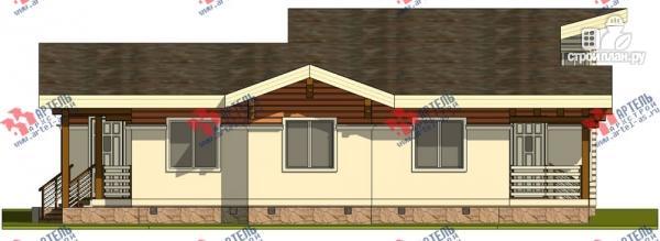 Фото 4: проект одноэтажный каркасный дом с большой террасой