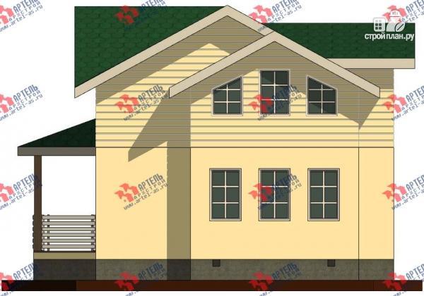 Фото 5: проект дом каркасный с балконом