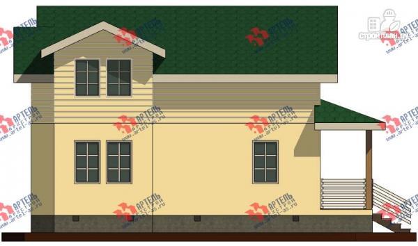 Фото 4: проект дом каркасный с балконом