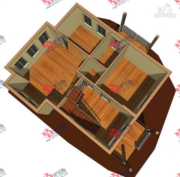 Фото 2: проект дом каркасный с балконом