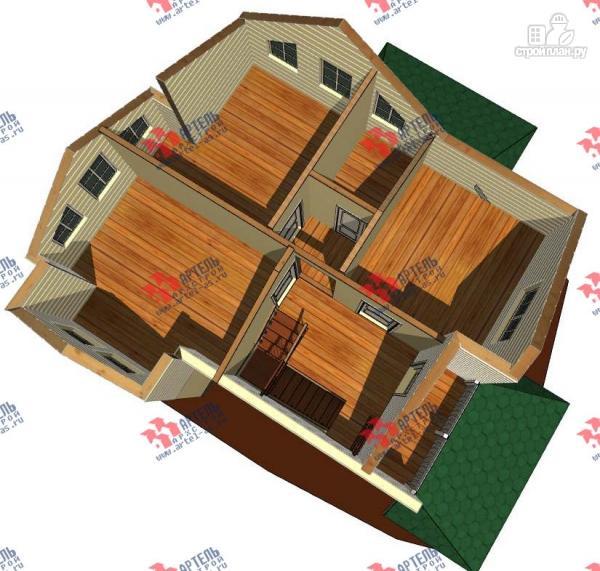 Фото 3: проект дом каркасный с балконом