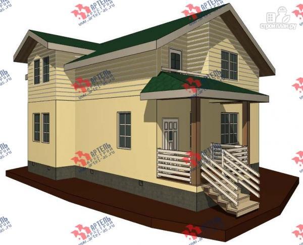 Фото: проект дом каркасный с балконом