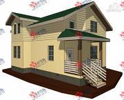Проект дом каркасный с балконом