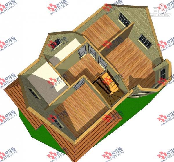 Фото 3: проект дом каркасный с эркером