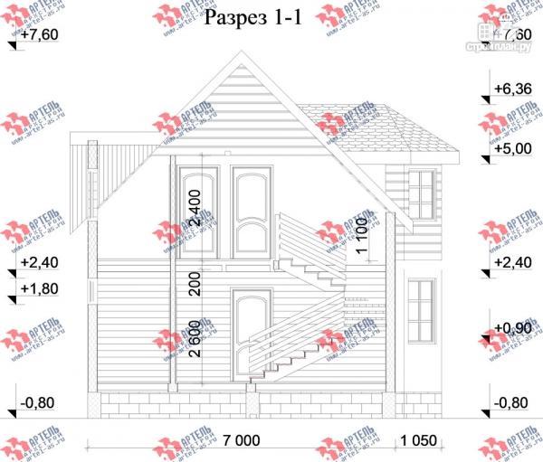Фото 10: проект дом каркасный с эркером