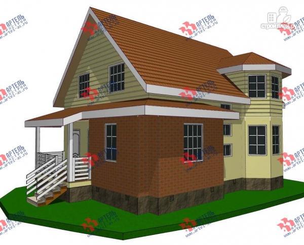 Фото: проект дом каркасный с эркером