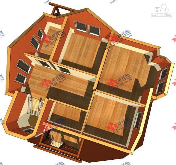 Фото 3: проект каркасный дом с крыльцом