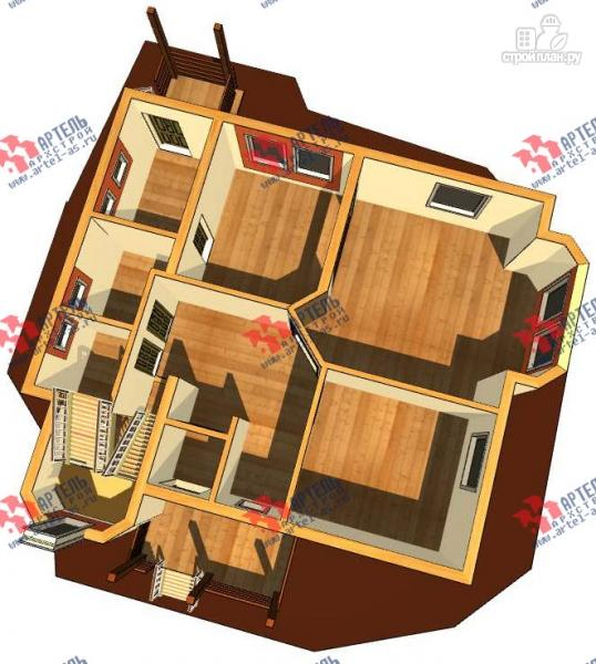 Фото 2: проект каркасный дом с крыльцом