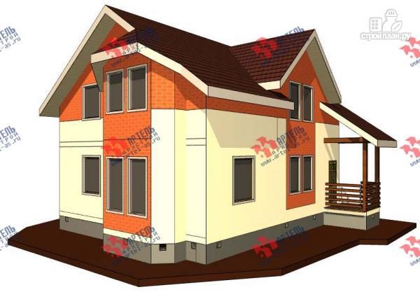 Фото: проект каркасный дом с крыльцом