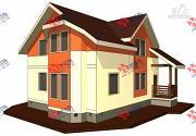 Проект каркасный дом с крыльцом