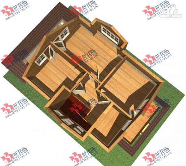 Фото 3: проект дом каркасный с крыльцом и террасой