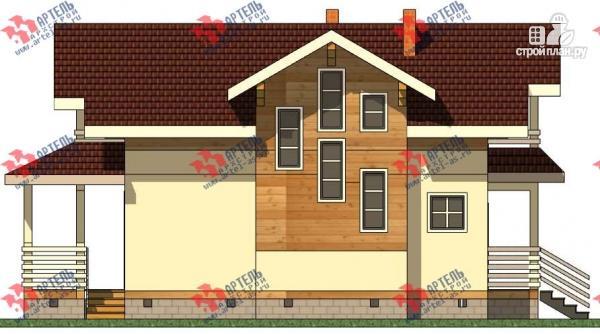Фото 4: проект дом каркасный с крыльцом и террасой