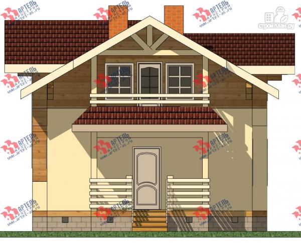 Фото 5: проект дом каркасный с крыльцом и террасой
