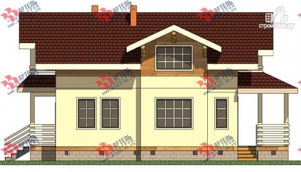 Фото 6: проект дом каркасный с крыльцом и террасой