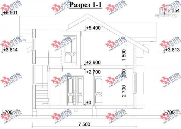 Фото 10: проект дом каркасный с крыльцом и террасой