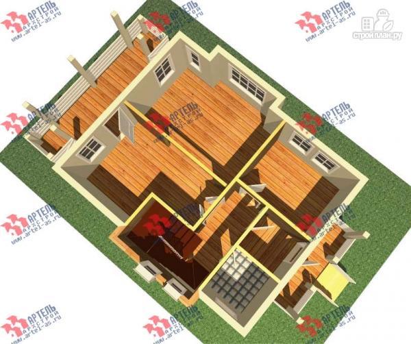 Фото 2: проект дом каркасный с крыльцом и террасой