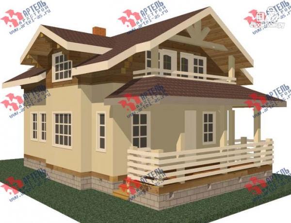 Фото: проект дом каркасный с крыльцом и террасой