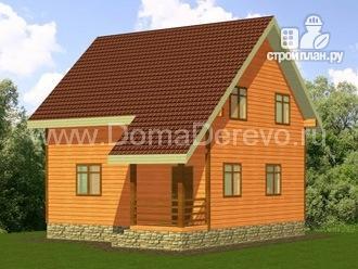 Фото 2: проект дом из бруса 7 на 7, с эркером