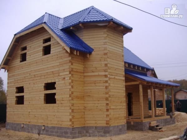 Фото 7: проект дом из бруса 7 на 9, с угловой террасой