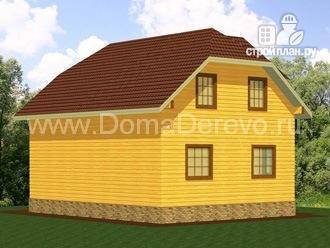 Фото 3: проект дом из бруса 7 на 9, с угловой террасой
