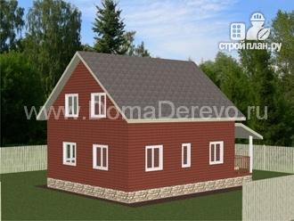 Фото 3: проект дом из бруса 9.5 на 8, с террасой