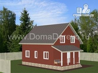 Фото 4: проект дом из бруса 9.5 на 8, с террасой