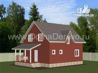Фото: проект дом из бруса 9.5 на 8, с террасой