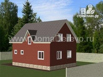 Фото 2: проект дом из бруса 9.5 на 8, с террасой