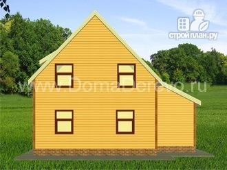 Фото 3: проект дом из бруса 10 на 11, с балконом и гаражом