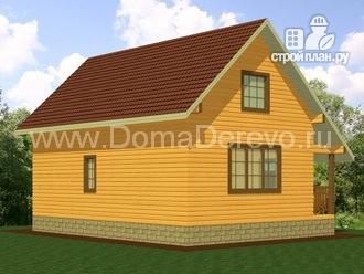 Фото 4: проект дом из бруса 6 на 9, с крыльцом
