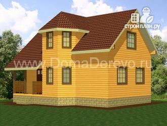 Фото 2: проект дом из бруса 6 на 9, с крыльцом