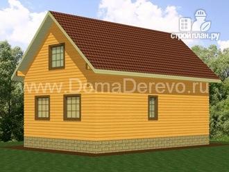 Фото 3: проект дом из бруса 6 на 9, с крыльцом