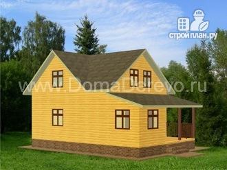 Фото 4: проект дом из бруса 7 на 10.5, с верандой и террасой