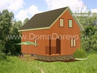 Фото 4: проект дом из бруса 6 на 7,5