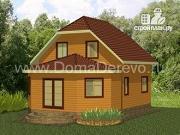 Проект дом из бруса 7.5 на 9, с верандой