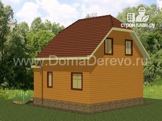 Фото 2: проект дом из бруса 7.5 на 9, с верандой