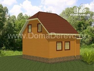 Фото 3: проект дом из бруса 7.5 на 9, с верандой