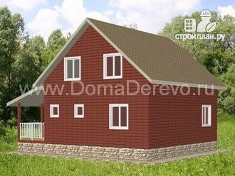 Фото 3: проект дом из бруса 9 на 10.5, с террасой