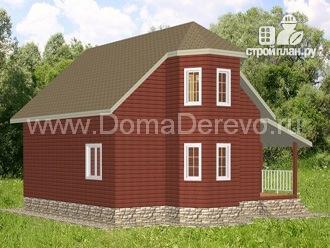 Фото 4: проект дом из бруса 9 на 10.5, с террасой