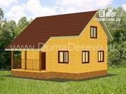 Проект дом из бруса 6 на 8, с крыльцом