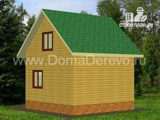 Фото 2: проект дом из бруса 6 на 6, с крыльцом