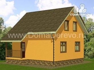 Фото 3: проект дом из бруса 7 на 8, с крыльцом