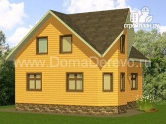 Фото 4: проект дом из бруса 7 на 8, с крыльцом