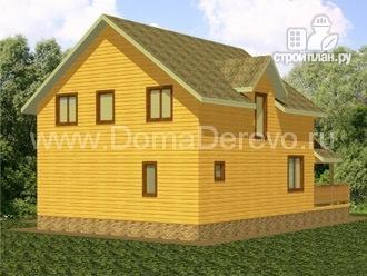 Фото 3: проект дом из бруса 9 на 14.5, с сауной