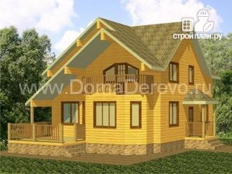 Фото: проект дом из бруса 9 на 14.5, с сауной