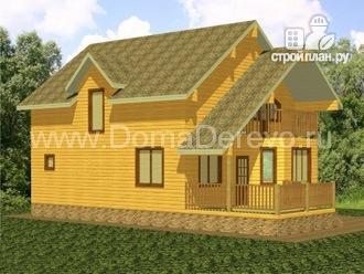 Фото 4: проект дом из бруса 9 на 14.5, с сауной