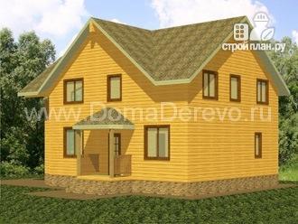 Фото 2: проект дом из бруса 9 на 14.5, с сауной