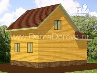 Фото 3: проект дом из бруса 6 на 8.5, с верандой