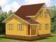 Проект дом из бруса 6 на 8.5, с верандой