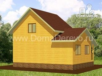 Фото 4: проект дом из бруса 6 на 8.5, с верандой